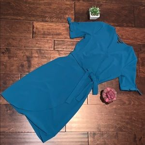 Banana Republic Teal Wrap Dress size 2